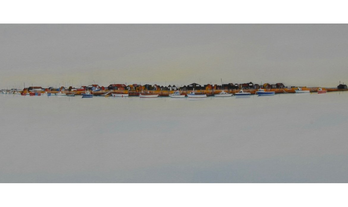 Harbourscape 6 Southwold First Daylight 30x80 825