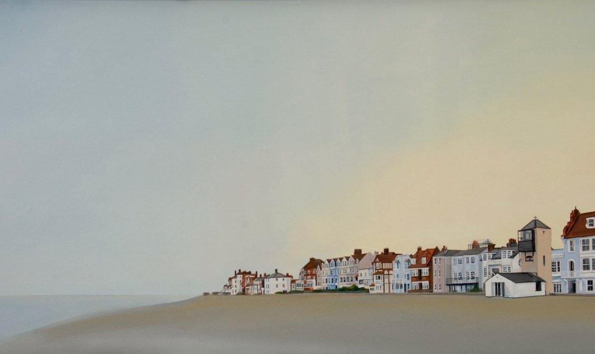 Series 4 K. FELTON Aldeburgh Summer Early Evening 100x50cm Oil On Linen 925