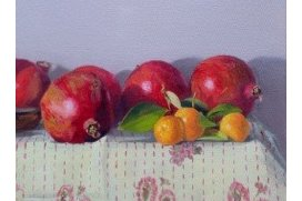 Pomegranates On Kantha 12x12 550